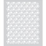 Hero Arts - BasicGrey - Second City Collection - Stencils - Triangle Pattern