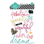 Heidi Swapp - Sugar Chic Collection - Epoxy Stickers - Buzz Words
