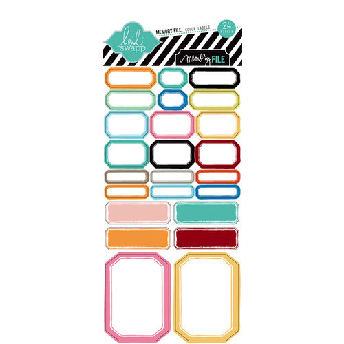 Heidi Swapp - Memory File Collection - Cardstock Stickers - Color Labels