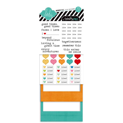 Heidi Swapp - Memory File Collection - Instaframes - Polaroid Style Frames and Stickers - Colorful