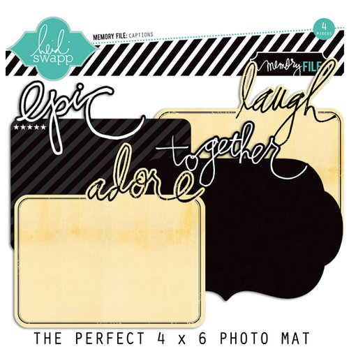 Heidi Swapp - Memory File Collection - Photo Captions - Cardstock Photo Mats