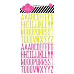 Heidi Swapp - Day Glow Collection - Epoxy Stickers - Alphabet - Neon