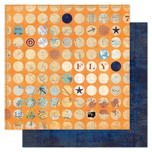Heidi Swapp - No Limits Collection - 12 x 12 Double Sided Paper - Smarty