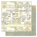 Heidi Swapp - No Limits Collection - 12 x 12 Double Sided Paper - Schematic