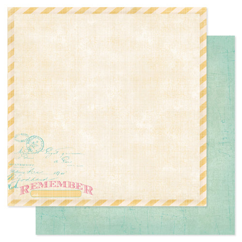 Heidi Swapp - Sugar Chic Collection - 12 x 12 Double Sided Paper - Remember