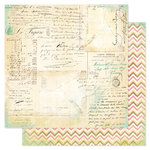 Heidi Swapp - Vintage Chic Collection - 12 x 12 Double Sided Paper - Handwritten
