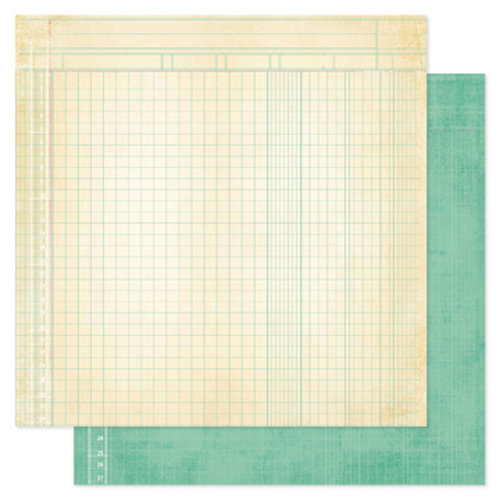 Heidi Swapp - Vintage Chic Collection - 12 x 12 Double Sided Paper - Bookkeeping