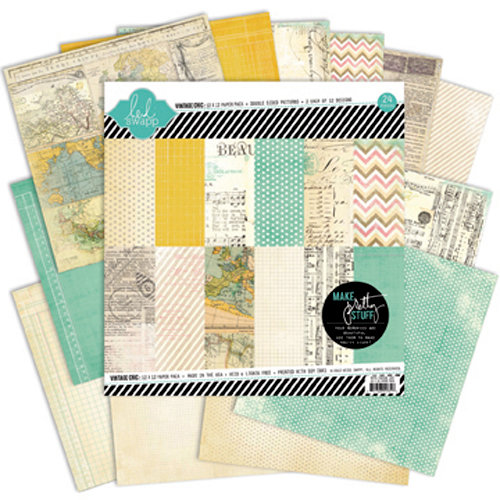 Heidi Swapp - Vintage Chic Collection - 12 x 12 Paper Pack