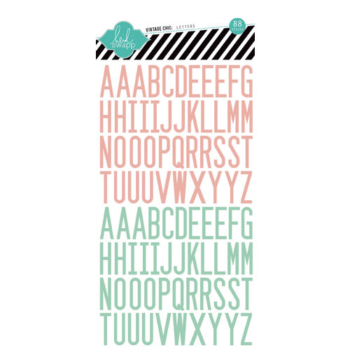 Heidi Swapp - Vintage Chic Collection - Epoxy Stickers - Letter