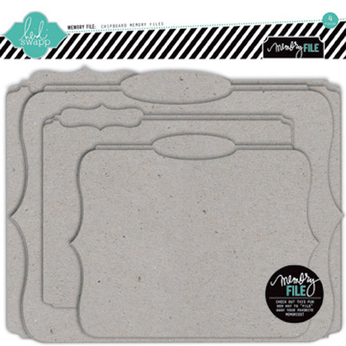 Heidi Swapp - Memory File Collection - Chipboard Die Cut File Folders - Memory Files