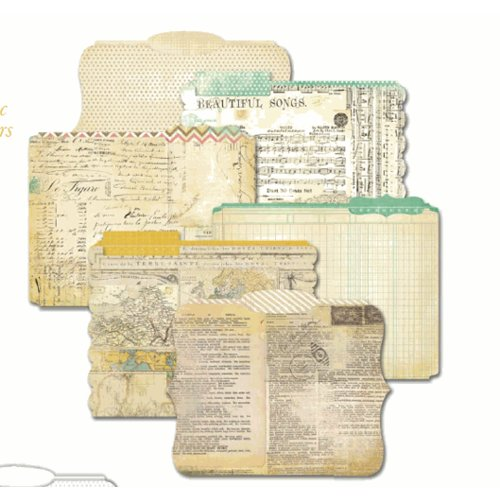 Heidi Swapp - Vintage Chic Collection - Die Cut File Folders -  Memory Files