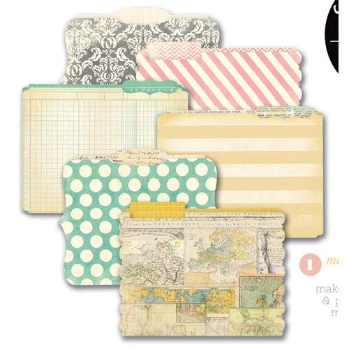 Heidi Swapp - Memory File Collection - Die Cut File Folders - Memory Files - Mini
