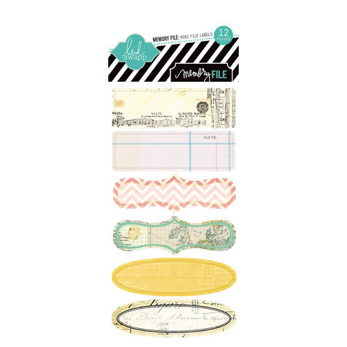 Heidi Swapp - Memory File Collection - Mini File Tab Stickers