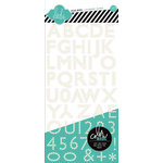 Heidi Swapp - Color Magic Collection - Resist Chipboard Stickers - Alphabet