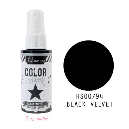 Heidi Swapp - Color Shine Iridescent Spritz - 2 Ounce Bottle - Black Velvet
