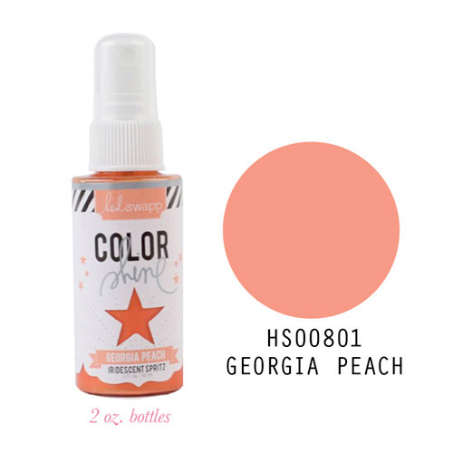 Heidi Swapp - Color Shine Iridescent Spritz - 2 Ounce Bottle - Georgia Peach
