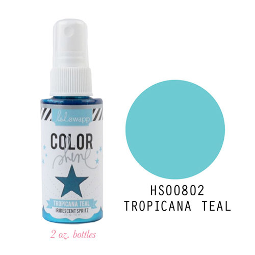 Heidi Swapp - Color Shine Iridescent Spritz - 2 Ounce Bottle - Tropicana Teal