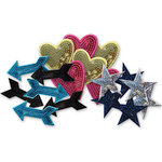 Heidi Swapp - Embellishment Kit - Sequin Shapes - Disco