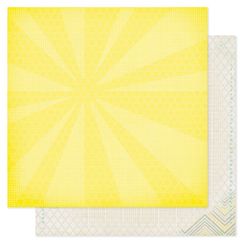 Heidi Swapp - Serendipity Collection - 12 x 12 Double Sided Patterned Paper - New Day
