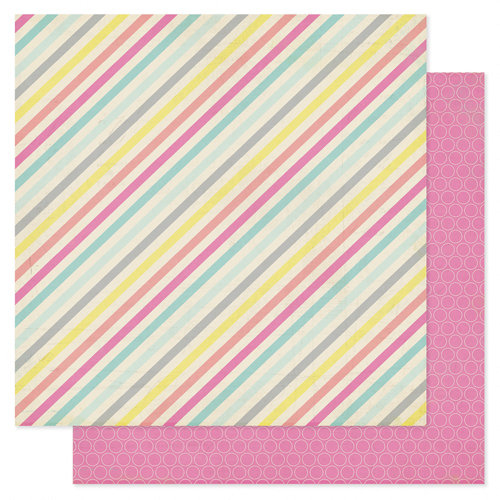 Heidi Swapp - Serendipity Collection - 12 x 12 Double Sided Patterned Paper - Singing Stripe