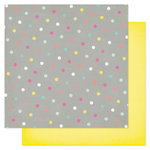 Heidi Swapp - Serendipity Collection - 12 x 12 Double Sided Patterned Paper - Polka Pop