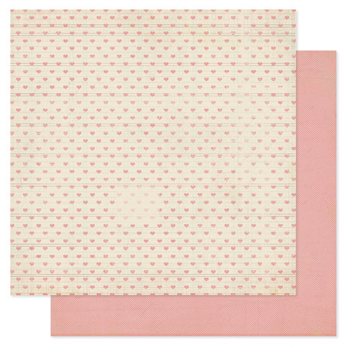 Heidi Swapp - Serendipity Collection - 12 x 12 Double Sided Patterned Paper - Lovey Dovey