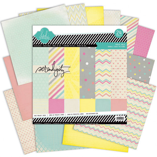 Heidi Swapp - Serendipity Collection - 12 x 12 Paper Pack