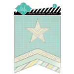 Heidi Swapp - Serendipity Collection - Mini Fotostack Openable - Staggered Paper Album - Stars
