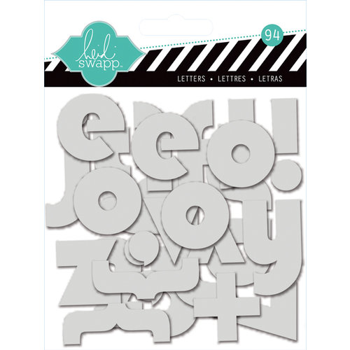 Heidi Swapp - Clear Pop Collection - Clear Alphabet Grey