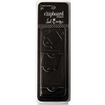 Heidi Swapp - Chipboard Shapes - Label Holders - Black, CLEARANCE