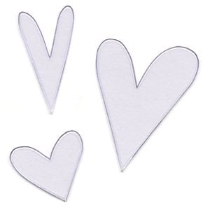 Heidi Swapp Ghost Shapes - Hearts - Clear