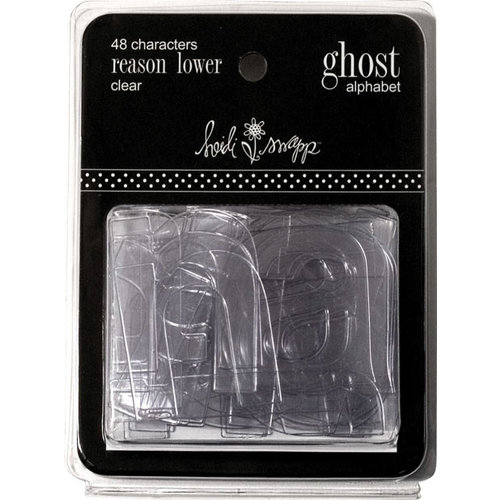 Heidi Swapp - Ghost Alphabets - Reason - Clear - Lowercase, CLEARANCE