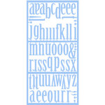 Heidi Swapp - Plastic Alphabets - Control Freak - Sea - Blue, CLEARANCE