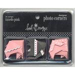 Heidi Swapp - Designer Photo Corners - Tuxedo Pink, CLEARANCE