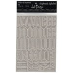 Heidi Swapp - Chipboard Alphabet - Center of Attention - Raw, CLEARANCE