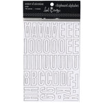 Heidi Swapp - Chipboard Alphabet - Center of Attention - White, CLEARANCE