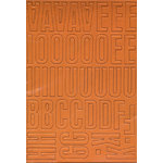 Heidi Swapp - Chipboard Alphabet - Center of Attention - Pumpkin, CLEARANCE