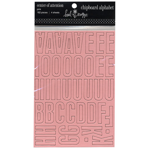 Heidi Swapp - Chipboard Alphabet - Center of Attention - Pink, CLEARANCE