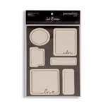 Heidi Swapp - Journaling Spots - Love 1 - Black and Cream, CLEARANCE