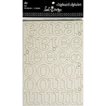 Heidi Swapp - Chipboard - Alphabet - SHE - Raw, CLEARANCE
