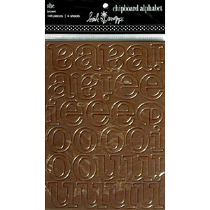 Heidi Swapp - Chipboard - Alphabet - SHE - Brown