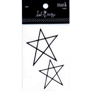 Heidi Swapp - Mask - Mini - Star, CLEARANCE