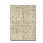 Heidi Swapp - Chipboard Letters - One Inch - Lemonade Stand Font - Ledger, CLEARANCE