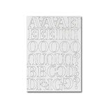 Heidi Swapp - Chipboard Letters - One Inch - Newsprint Font - White, CLEARANCE