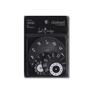 Heidi Swapp - Chipboard - Ornaments - Clocks - Jet Black