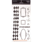 Heidi Swapp - Scrapbook Scenery Stickers - Clear - 12x12 - Diamond Drama 1