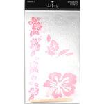 Heidi Swapp - Scrapbook Scenery Stickers - Clear - 12x12 - Hibiscus 2, CLEARANCE
