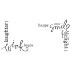 Heidi Swapp - Clear Stamps - Emotion Corners, CLEARANCE