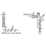 Heidi Swapp - Clear Stamps - Thank You Corners