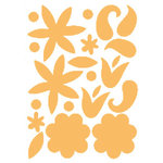 Heidi Swapp - Glossy Chipboard - Flowers - Clementine, CLEARANCE